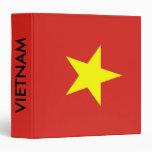 Binder with Flag of Vietnam