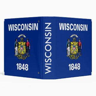 Binder with Flag of Wisconsin, USA