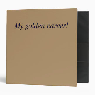Binder with golden outside