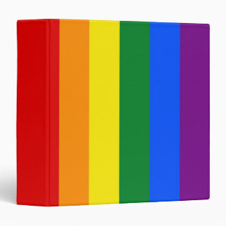 Binder with LGBT Rainbow Flag