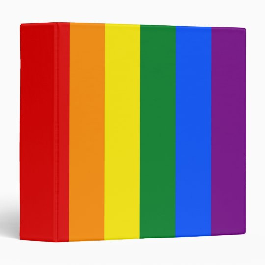 Binder with LGBT Rainbow Flag
