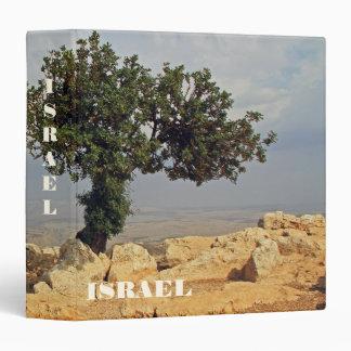 Binder With Mount Arbel Israel Background Tile