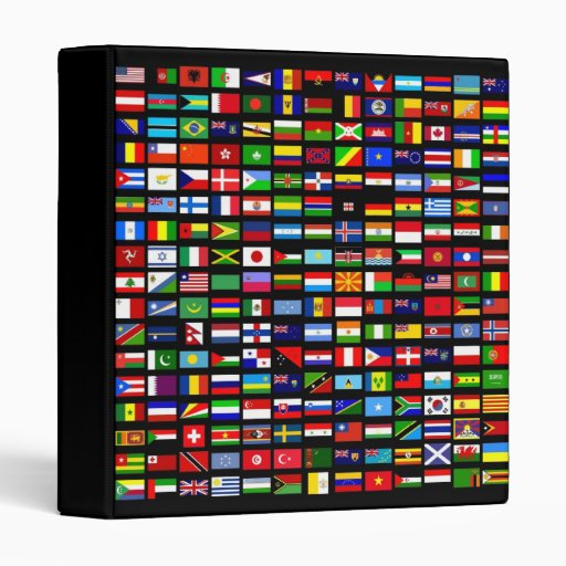 Binder World Flags Binder