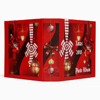 Binder Xmas Photo Album Christmas Red Balls