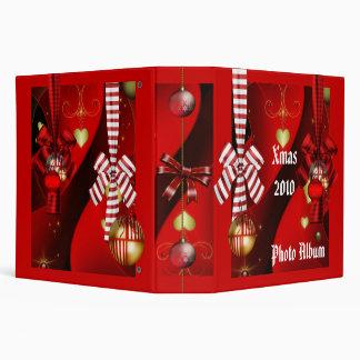 Binder Xmas Photo Album Christmas Red Balls Vinyl Binders