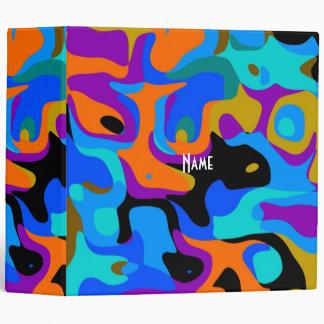 Binder Zizzago Abstract Multi Color Fun 2