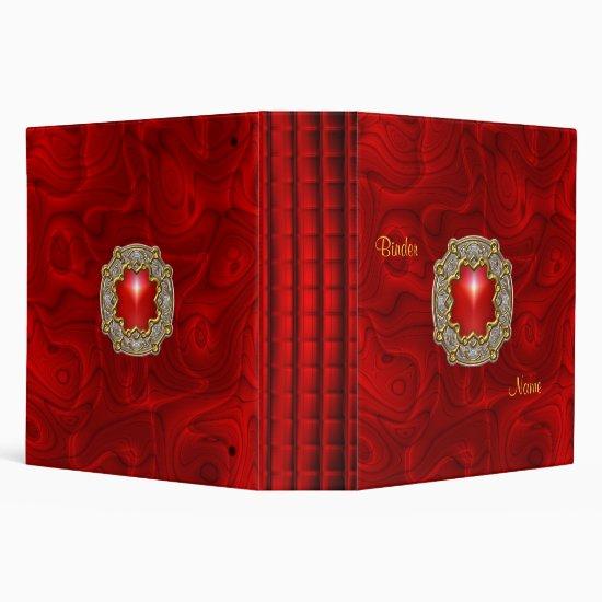 Binder Zizzago Padded Red 2 Silver Gold Jewel