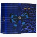 Binder ZIZZAGO Ribbed Exotic Blue Jewel 3 Ring Binders