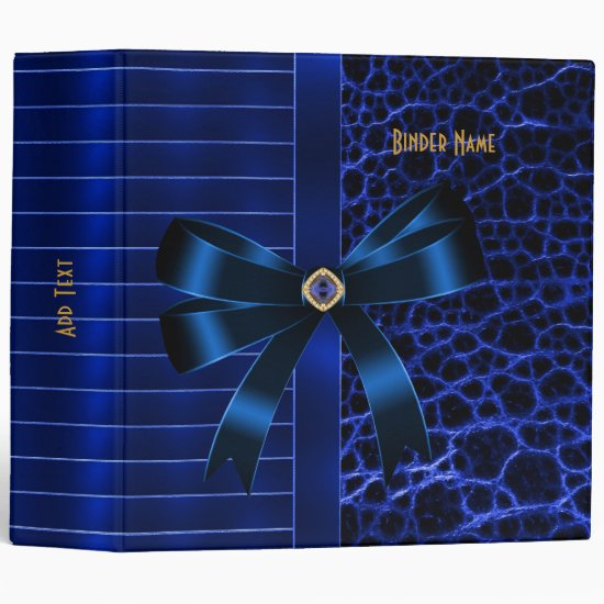 Binder ZIZZAGO Ribbed Exotic Blue Jewel