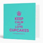 [Cupcake] keep calm and love cupcakes  Binders