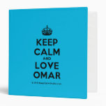 [Crown] keep calm and love omar  Binders