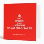 [Crown] jat' bishnoi chadi jodhpur rajasthan-342312  Binders