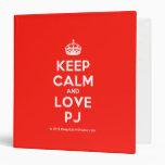 [Crown] keep calm and love pj  Binders