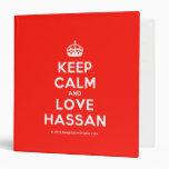 [Crown] keep calm and love hassan  Binders