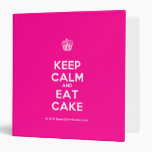 [Cupcake] keep calm and eat cake  Binders