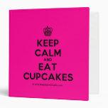 [Cupcake] keep calm and eat cupcakes  Binders