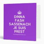 [Crown] dinna fash sassenach je suis prest  Binders