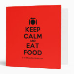 [Cutlery and plate] keep calm and eat food  Binders