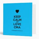 [Love heart] keep calm and love cma  Binders