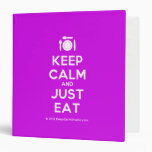[Cutlery and plate] keep calm and just eat  Binders