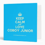 [Crown] keep calm and love coboy junior  Binders