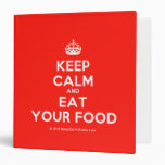 [Crown] keep calm and eat your food  Binders