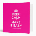 [Crown] keep calm and make it easy  Binders