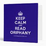 [Crown] keep calm and read oriphany  Binders