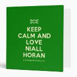[UK Flag] keep calm and love niall horan  Binders