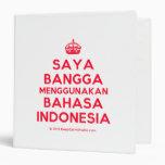 [Crown] saya bangga menggunakan bahasa indonesia  Binders