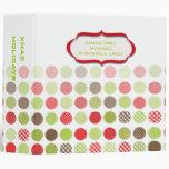 Binders, colorful christmas polka dots