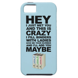 Binders Full of Ladies Call Me Maybe Parody iPhone 5 Case