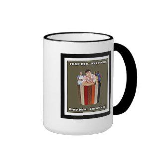 Binders Full Of Women Bind Her Cheat Her Gifts Ringer Coffee Mug