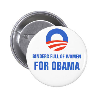 Binders full of Women Equal Pay for Obama 2012 Button