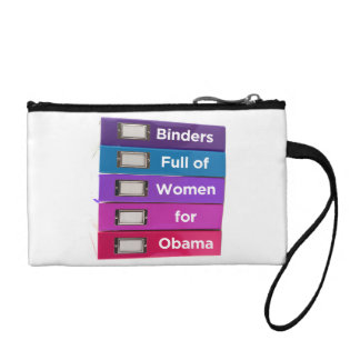 Binders Full of Women for Obama Clutch Coin Purses