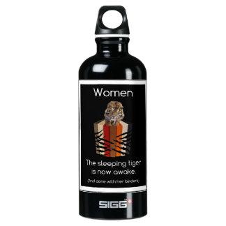 Binders Full of Women Sleeping Tiger Water Bottle