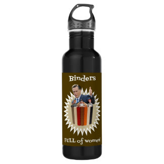 Binders Full of Women Thumbs Up! 24oz Water Bottle