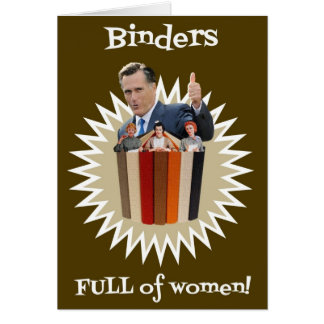 Binders Full of Women Thumbs Up! Gifts Card