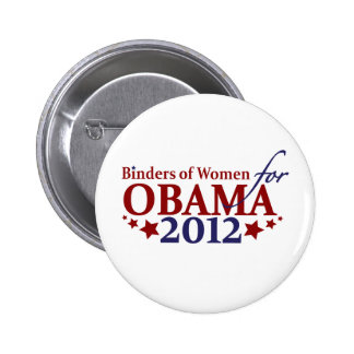 Binders of Women for Obama 2012 Button