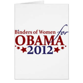 Binders of Women for Obama 2012 Card