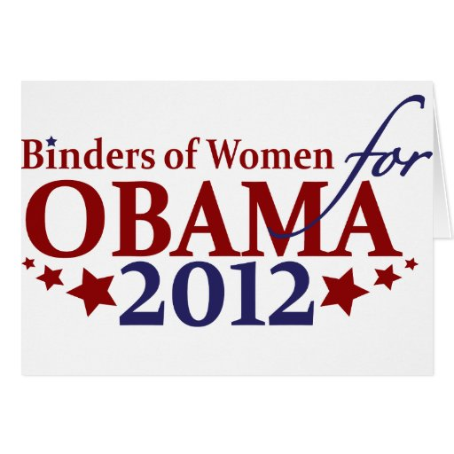 Binders of Women for Obama 2012 Greeting Cards