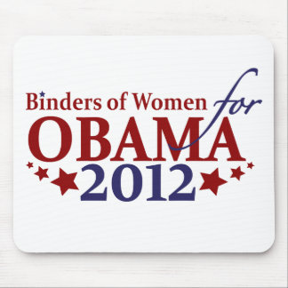 Binders of Women for Obama 2012 Mouse Pad
