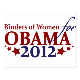 Binders of Women for Obama 2012 Postcard