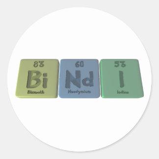 Bindi-Bi-Nd-I-Bismuth-Neodymium-Iodine.png Classic Round Sticker