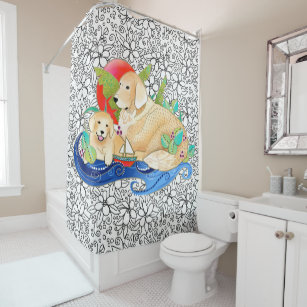 Bindi Golden Retriever Shower Curtain