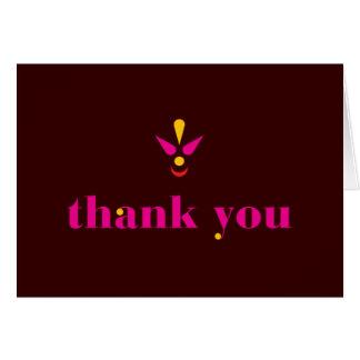 Bindi le agradece tarjeta de felicitación