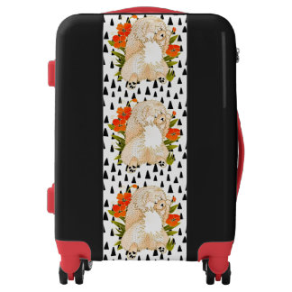 BINDI MINGSIE cream chow  luggage -choose size