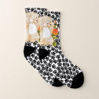 BINDI MINGSIE Cream Chow -   socks