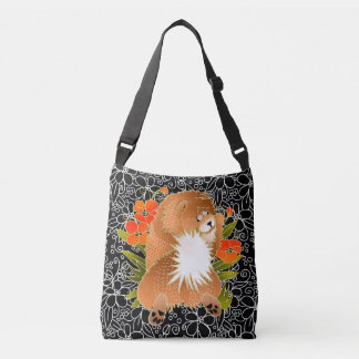 BINDI MINGSIE red chow crossbody or tote-2 sizes Crossbody Bag