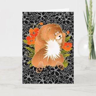 BINDI MINGSIE red chow greeting cards